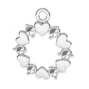 Herz anhänger, silber 925, ODL-00812 13,5x15,5 mm