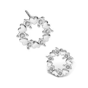 Herz ohrringe Swarovski pearls*silber 925*KLS ODL-00811 ver.2 10,8x10,8 mm