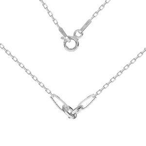 Kette basis für armband, sterling silber 925, CHAIN 52 A 030 PL 2,0 42 cm