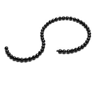 Schwarzer spinell runde perlen stein 6 MM GAVBARI, halbedelstein
