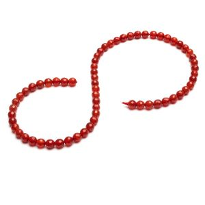 Karneol runde perlen stein 6 MM GAVBARI, halbedelstein