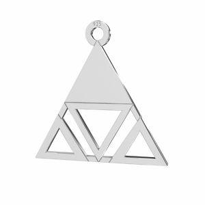 Dreieck anhänger, silber 925, LKM-2222 - 0,50 18,6x18,7 mm