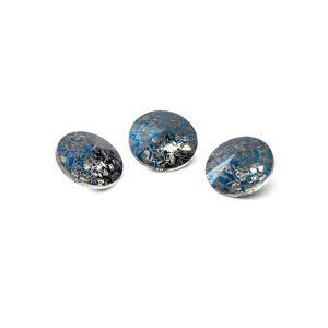Runden Kristall 8mm, RIVOLI 8 MM GAVBARI METALIC BLUE PATINA