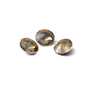 Runden Kristall 8mm, RIVOLI 8 MM GAVBARI IRIDESCENT GOLD