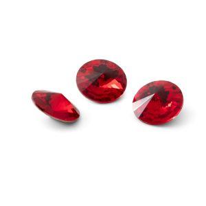 Runden Kristall 10mm, RIVOLI 10 MM GAVBARI LIGHT RED