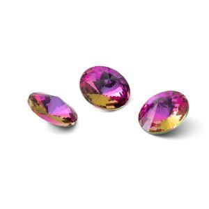 Runden Kristall 10mm, RIVOLI 10 MM GAVBARI PURPLE ROSE