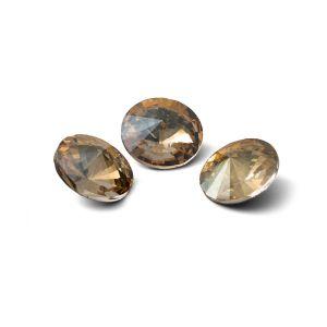 Runden Kristall 10mm, RIVOLI 10 MM GAVBARI IRIDESCENT GOLD
