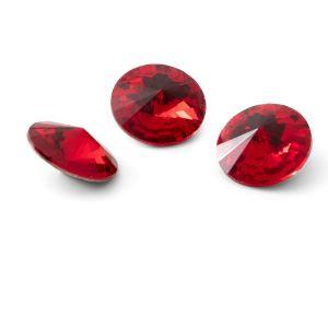 Runden Kristall 12mm, RIVOLI 12 MM GAVBARI LIGHT RED