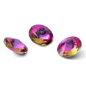 Runden Kristall 12mm, RIVOLI 12 MM GAVBARI PURPLE ROSE