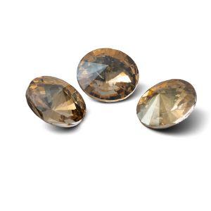 Runden Kristall 12mm, RIVOLI 12 MM GAVBARI IRIDESCENT GOLD