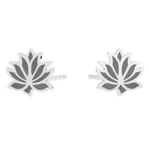 Lotus blume ohrstecker, sterling silber 925, KLS LKM-3002 - 0,50 9x9 mm