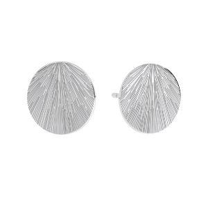 Runden ohrringe, sterling silber 925, KLS LKM-3009 - 0,50 10x10 mm