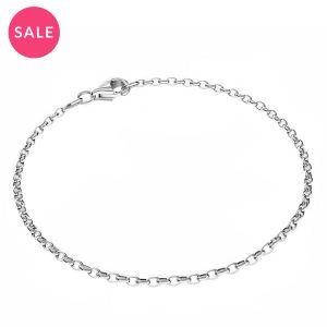 Armband rund*sterlingsilber 925*Round rolo bracelet*sterling silver 925*ROLO OVAL 0,35X0,60 17 cm
