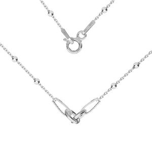 Kette basis für armband, sterling silber 925, S-CHAIN 2 (A 030) - 41 cm